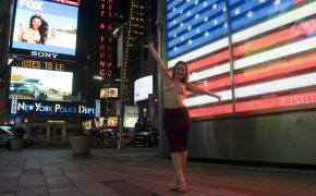 Free Photo Gallery: Dani Daniels is Topless in Times Square!